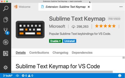 Sublime Keymap extension for VS Code.