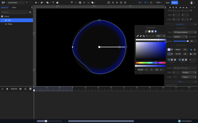 Modifying the gradient fill of the shape