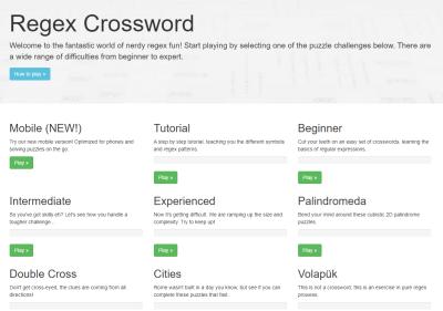 Regex Crossword