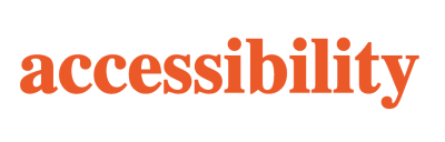 Still screenshot of the word accessibility in orange with no movement.