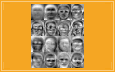 Eigenfaces from a trained set of faces