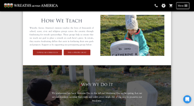 Wreaths Across America live chat
