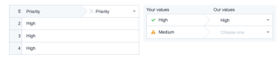 ClickUp data import label matching