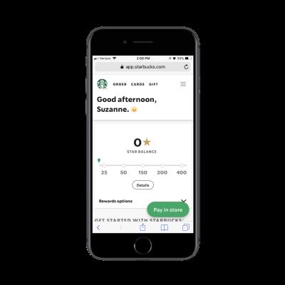 Starbucks rewards PWA
