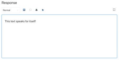 The customized SSML editor