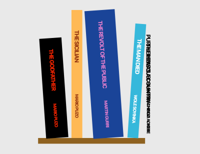 A screenshot of the change to the demo Bookshelf after styling the fourth book with Emotion
