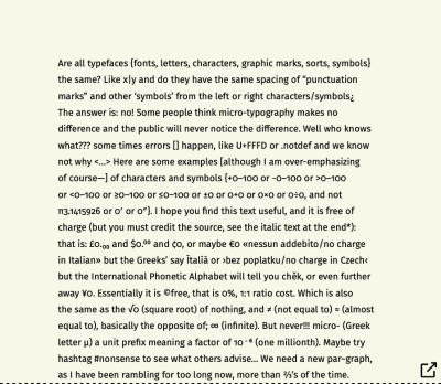 Cropped paragraph block typeset in Fira Sans Regular font, showing half of the full figure, of gobbledygook text. And whole paragraph block typeset in Fira Sans Regular font, showing whole of the full figure, of gobbledygook text.