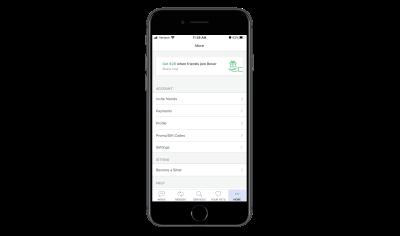Rover app settings