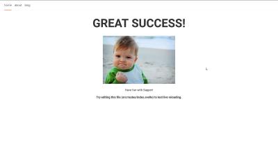 A screenshot of the Sapper Starter webpage.