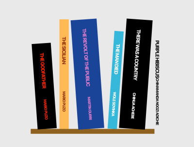 A screenshot of the change to the demo Bookshelf after styling the fifth book with Styled JSX