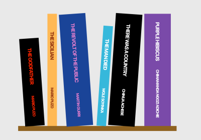 A screenshot of the change to the demo Bookshelf after styling the sixth book with Styled Components