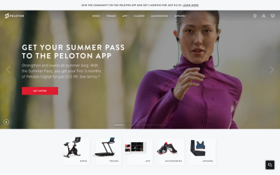 Peloton powered by Contentful and Netlify