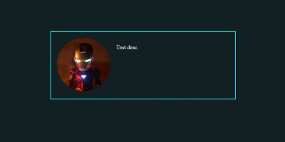 Screenshot of Iron Man rounded image with demo text