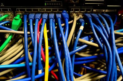 Image of cloud network cables