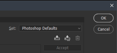 Keyboard Shortcuts and Menus option showing the Profiles section