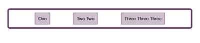 Items with equal amounts of space between and on each end