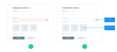 Example of correct color using in wireframes