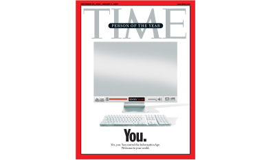 """Cover of TIME magazine presenting the person of the year as """"You"""""""