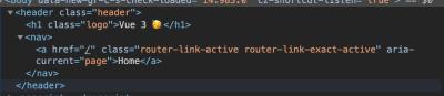 Header component in DevTools