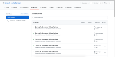 Scheduled deploys every 10mins Using Heroku Action