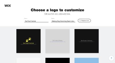 Wix Logo Maker premade logo designs