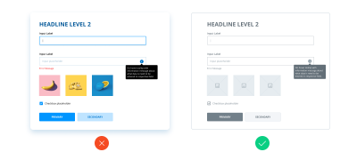 Example of how to minimize the use of color in wireframes