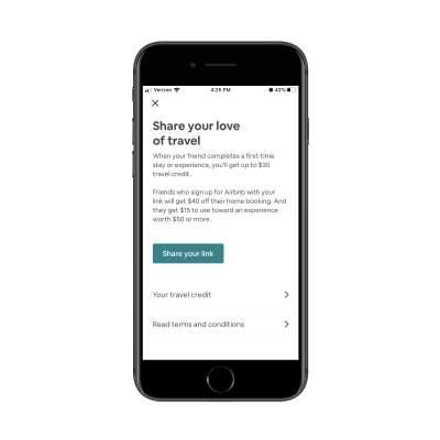 Airbnb referral program