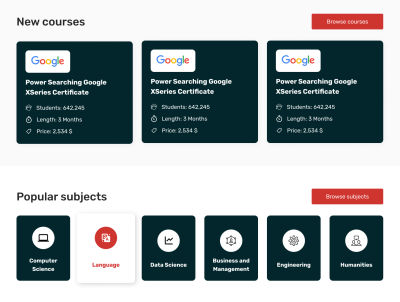 edX redesign: new courses and popular subjects