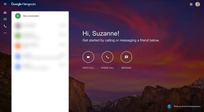 Google Hangouts distraction-free interface and simple navigation