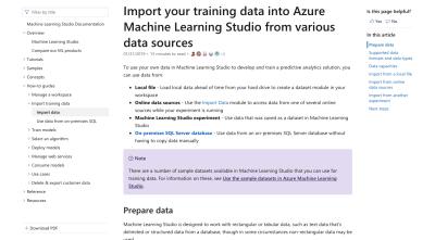Microsoft Azure data import guide