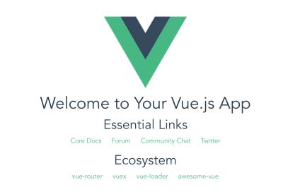 A screenshot of the Vue.js website