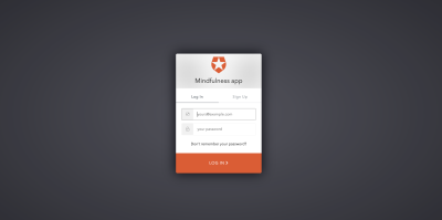 default Auth0 Login/Signup screen