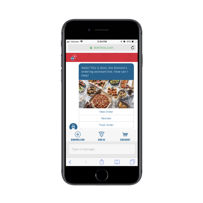 Dom order bot from Domino's