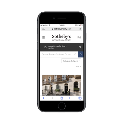 Sotheby's location search results