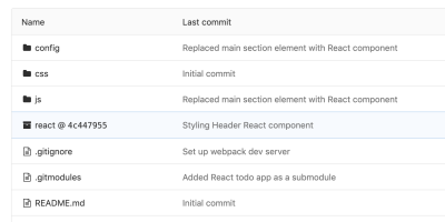 React TodoMVC added as a git submodule into jQuery TodoMVC application