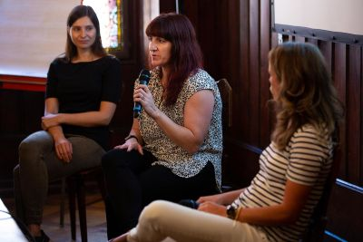 Three women panelists
