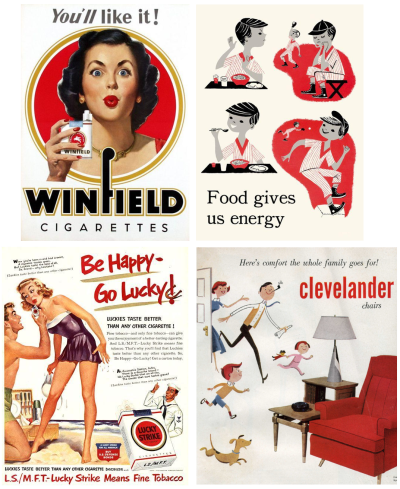 Inspiration from mid-century advertisements