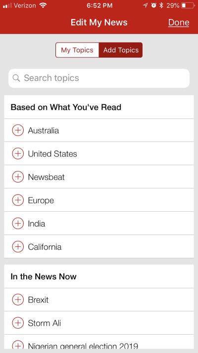 BBC News personalization