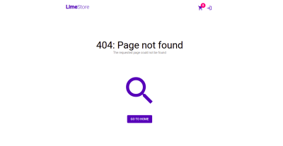 Screenshot of 404 page