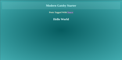 Hello World single post page with tag