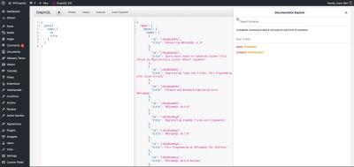 The GraphQL client in WPGraphQL