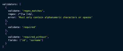 Flatfile code snippet for data import validation
