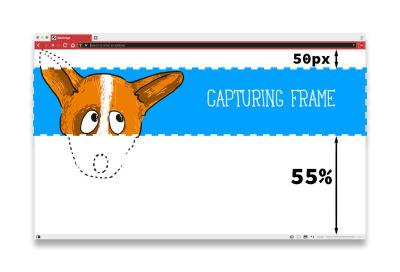 Capturing frame for current section