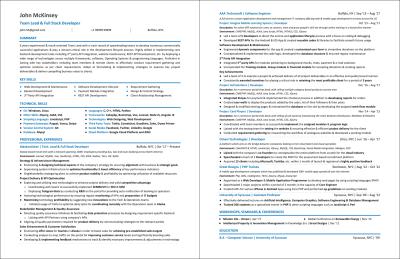 A Sample Web Developer Résumé