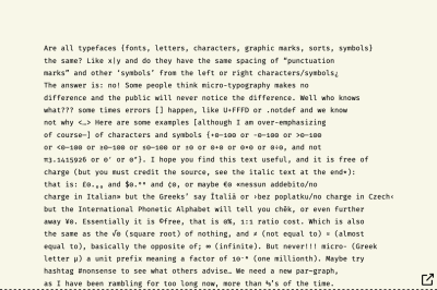 Cropped paragraph block typeset in Fira Mono Regular font, showing half of the full figure, of gobbledygook text. And whole paragraph block typeset in Fira Mono Regular font, showing half of the full figure, of gobbledygook text.