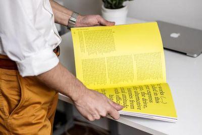 Man holding an open book