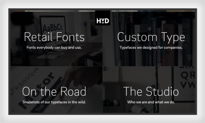 A good example of symmetry in Web design is HvD Fonts website