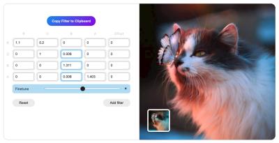 SVG Filters Color Matrix Mixer