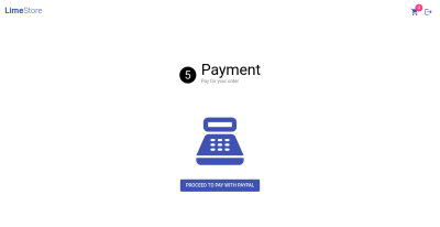 Screenshot of payment page