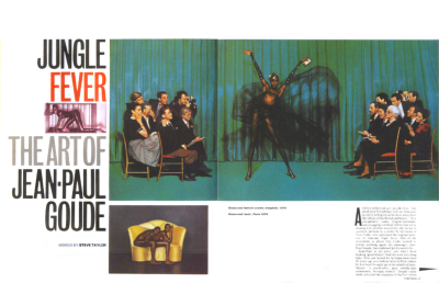 Jungle Fever: The Art of Jean-Paul Goude. The Face 1982. Art direction by Neville Brody. In much of Brody's work, structure is the main feature of the design.